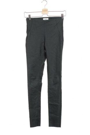 Дамски панталон Object, Размер S, Цвят Зелен, 77% вискоза, 20% полиамид, 3% еластан, Цена 6,30лв.
