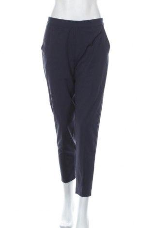 Дамски панталон Object, Размер M, Цвят Син, 62% полиестер, 33% вискоза, 5% еластан, Цена 19,47лв.