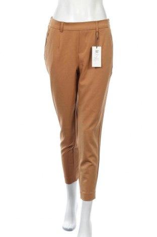 Дамски панталон Object, Размер M, Цвят Кафяв, 62% полиестер, 3% вискоза, 5% еластан, Цена 39,00лв.
