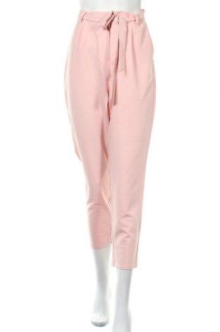 Γυναικείο παντελόνι Pieces, Μέγεθος L, Χρώμα Ρόζ , 79% πολυεστέρας, 16% βισκόζη, 5% ελαστάνη, Τιμή 22,81€