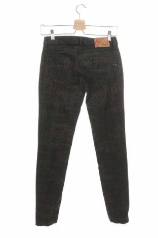 Дамски панталон Please, Размер XS, Цвят Зелен, 97% памук, 3% еластан, Цена 21,93лв.