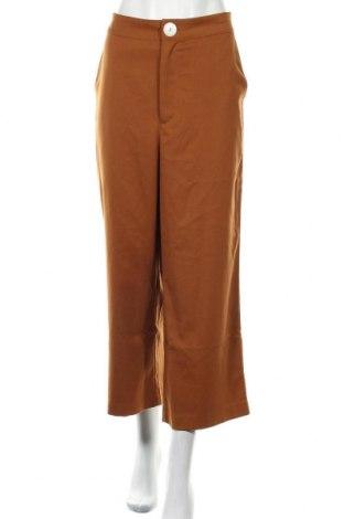Дамски панталон Second Script, Размер XL, Цвят Кафяв, 64% полиестер, 34% вискоза, 2% еластан, Цена 21,76лв.