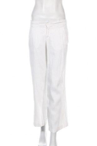 Дамски панталон Stefanel, Размер M, Цвят Бял, Лен, Цена 19,24лв.