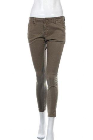 Дамски панталон Teddy Smith, Размер S, Цвят Зелен, Лиосел, памук, еластан, Цена 25,08лв.