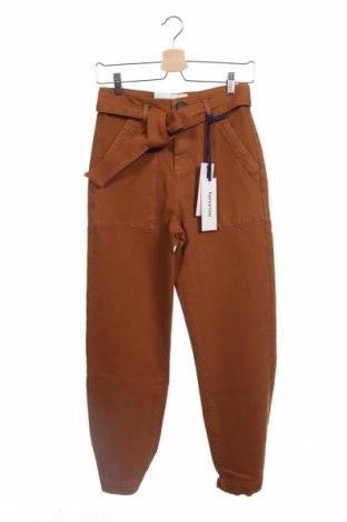 Γυναικείο παντελόνι Tomorrow, Μέγεθος XS, Χρώμα Καφέ, 95% βαμβάκι, 3% πολυεστέρας, 2% ελαστάνη, Τιμή 100,13€