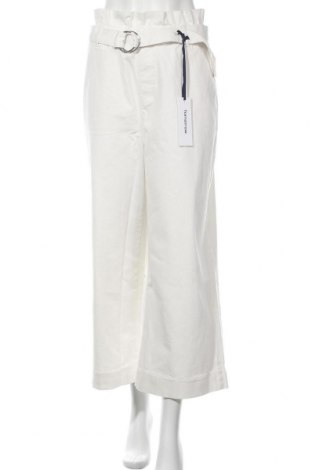 Γυναικείο παντελόνι Tomorrow, Μέγεθος M, Χρώμα Λευκό, 92% βαμβάκι, 5% πολυεστέρας, 3% ελαστάνη, Τιμή 100,13€