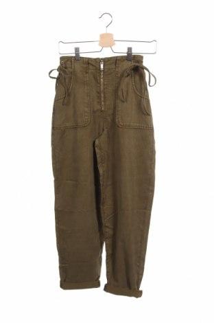 Дамски панталон Topshop, Размер XS, Цвят Зелен, 60% лиосел, 40% памук, Цена 19,46лв.