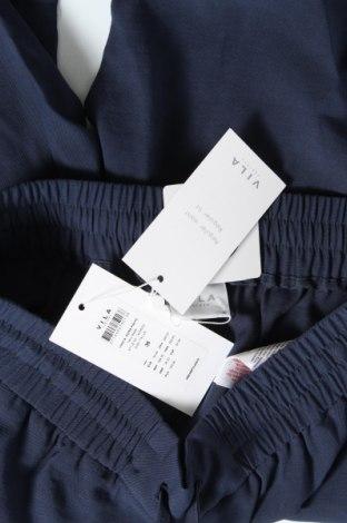 Дамски панталон Vila, Размер S, Цвят Син, 90% вискоза, 10% полиестер, Цена 13,38лв.