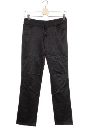 Дамски панталон Zara, Размер S, Цвят Черен, 52% полиестер, 45% памук, 3% еластан, Цена 5,46лв.