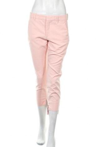 Pantaloni de femei Zara, Mărime M, Culoare Roz, 51% bumbac, 46% poliester, 3% elastan, Preț 91,28 Lei