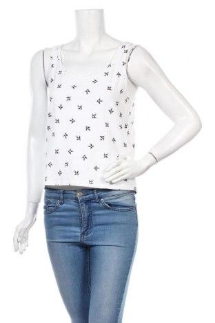 Γυναικείο αμάνικο μπλουζάκι H&M Divided, Μέγεθος L, Χρώμα Λευκό, 95% βαμβάκι, 5% ελαστάνη, Τιμή 8,35€