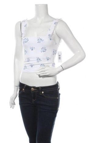 Γυναικείο αμάνικο μπλουζάκι Hollister, Μέγεθος S, Χρώμα Λευκό, 95% βαμβάκι, 5% ελαστάνη, Τιμή 7,94€