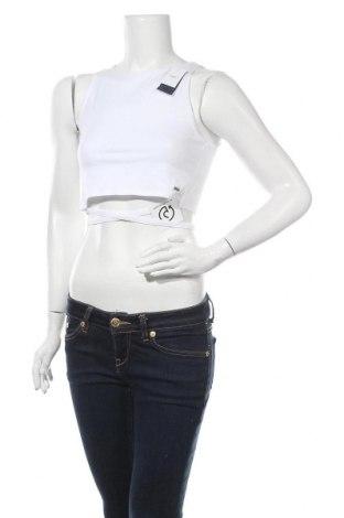Γυναικείο αμάνικο μπλουζάκι Hollister, Μέγεθος M, Χρώμα Λευκό, 95% βαμβάκι, 5% ελαστάνη, Τιμή 9,38€