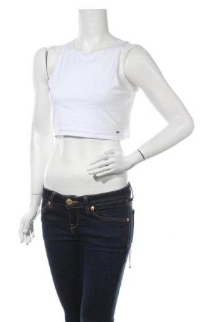 Γυναικείο αμάνικο μπλουζάκι Hollister, Μέγεθος XL, Χρώμα Λευκό, 95% βαμβάκι, 5% ελαστάνη, Τιμή 8,71€