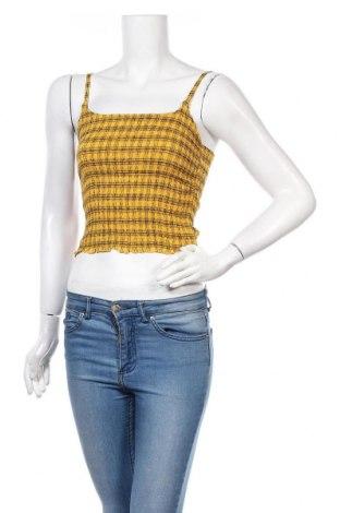 Γυναικείο αμάνικο μπλουζάκι Hollister, Μέγεθος M, Χρώμα Κίτρινο, Βισκόζη, Τιμή 10,21€