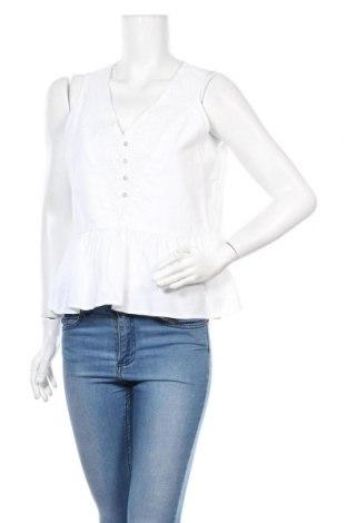 Tricou de damă Mango, Mărime L, Culoare Alb, Bumbac, Preț 49,18 Lei