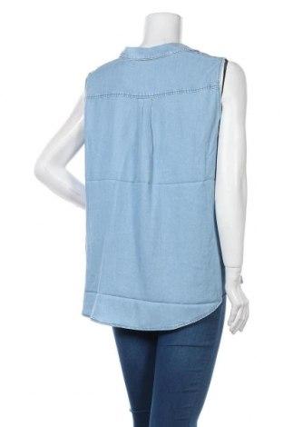 Γυναικείο αμάνικο μπλουζάκι Tom Tailor, Μέγεθος XL, Χρώμα Μπλέ, Lyocell, Τιμή 15,08€