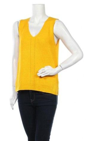 Γυναικείο αμάνικο μπλουζάκι Tom Tailor, Μέγεθος M, Χρώμα Κίτρινο, 55% πολυακρυλικό, 45% πολυαμίδη, Τιμή 18,95€