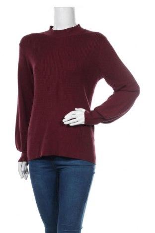 Дамски пуловер Free Quent, Размер XL, Цвят Червен, 50% вискоза, 30% полиестер, 15% полиамид, 5% еластан, Цена 16,52лв.