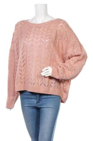 Дамски пуловер H&M, Размер 4XL, Цвят Розов, Акрил, Цена 36,00лв.