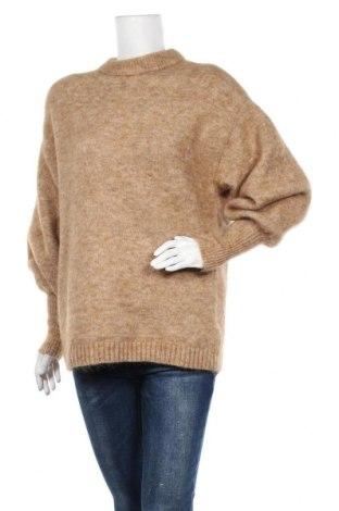 Pulover de femei H&M, Mărime S, Culoare Maro, 34% mohair, 34% lână, 27% poliamidă, 5% elastan, Preț 61,34 Lei