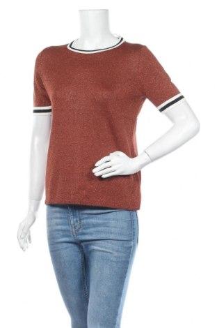 Γυναικείο πουλόβερ ONLY, Μέγεθος M, Χρώμα Καφέ, 81% βισκόζη, 19% μεταλλικά νήματα, Τιμή 22,81€