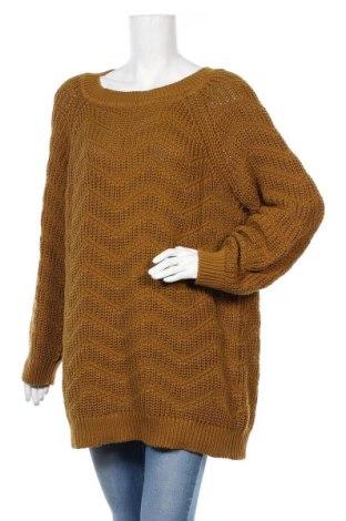 Дамски пуловер Object, Размер M, Цвят Кафяв, Памук, Цена 69,00лв.
