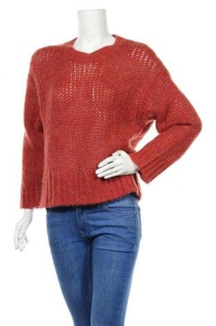 Дамски пуловер Part Two, Размер M, Цвят Червен, 44% полиамид, 42% вълна, 14% вълна от алпака, Цена 22,04лв.