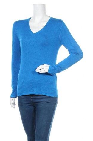 Γυναικείο πουλόβερ S.Oliver, Μέγεθος M, Χρώμα Μπλέ, 81% βισκόζη, 17% πολυαμίδη, 2% ελαστάνη, Τιμή 20,10€