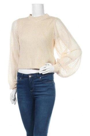 Pulover de femei Zara, Mărime S, Culoare Bej, Acrilic, bumbac, poliester, Preț 136,94 Lei