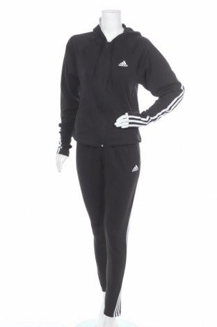 Γυναικείο αθλητικό σετ Adidas, Μέγεθος S, Χρώμα Μαύρο, 70% βαμβάκι, 30% πολυεστέρας, Τιμή 66,25€