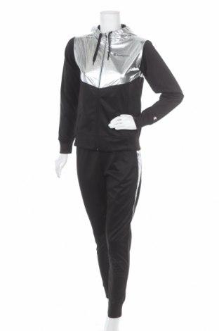 Γυναικείο αθλητικό σετ Champion, Μέγεθος S, Χρώμα Μαύρο, Πολυεστέρας, Τιμή 46,54€
