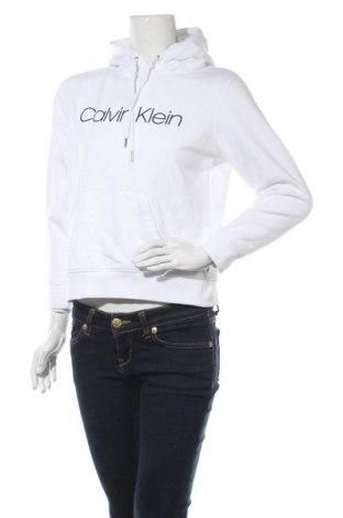 Γυναικείο φούτερ Calvin Klein, Μέγεθος M, Χρώμα Λευκό, 97% βαμβάκι, 3% ελαστάνη, Τιμή 38,27€