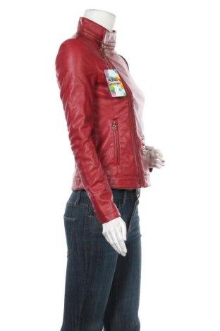 Γυναικείο δερμάτινο μπουφάν Desigual, Μέγεθος S, Χρώμα Κόκκινο, Δερματίνη, Τιμή 61,47€