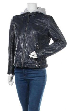 Γυναικείο δερμάτινο μπουφάν Gipsy, Μέγεθος XL, Χρώμα Μπλέ, Γνήσιο δέρμα, Τιμή 138,79€