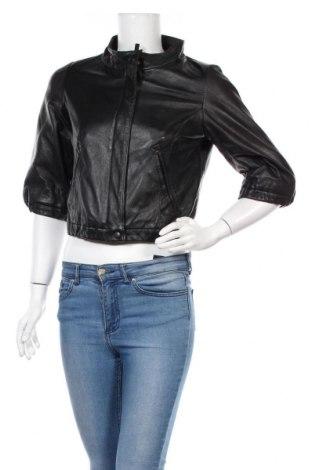 Дамско кожено яке Mbym, Размер M, Цвят Черен, Естествена кожа, Цена 96,00лв.