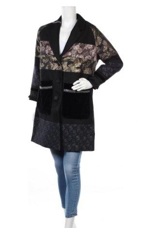 Γυναικείο παλτό Desigual, Μέγεθος M, Χρώμα Μαύρο, 76% βαμβάκι, 20% πολυεστέρας, 1%ακρυλικό, 1% μεταλλικά νήματα, 1% πολυαμίδη, 1% βισκόζη, Τιμή 158,12€