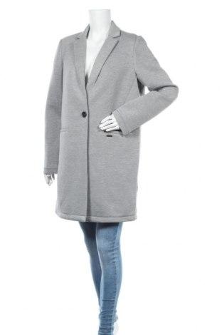 Γυναικείο παλτό Superdry, Μέγεθος L, Χρώμα Γκρί, 60% πολυεστέρας, 23% βισκόζη, 9% πολυαμίδη, 8% ελαστάνη, Τιμή 100,13€