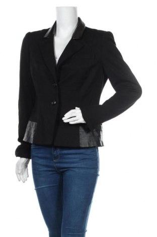 Дамско сако Madeleine, Размер M, Цвят Черен, Вискоза, полиамид, еластан, еко кожа, Цена 36,23лв.