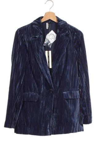 Γυναικείο σακάκι Topshop, Μέγεθος XS, Χρώμα Μπλέ, Πολυεστέρας, Τιμή 34,41€