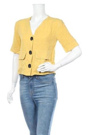 Γυναικείο σακάκι Topshop, Μέγεθος XS, Χρώμα Κίτρινο, 69% βισκόζη, 31% λινό, Τιμή 34,41€