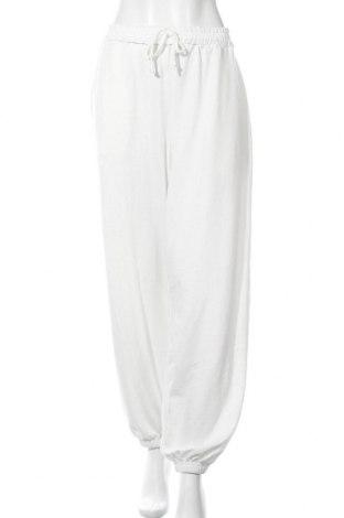 Дамско спортно долнище Missguided, Размер XL, Цвят Бял, 97% полиестер, 3% еластан, Цена 23,76лв.