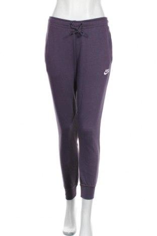 Γυναικείο αθλητικό παντελόνι Nike, Μέγεθος S, Χρώμα Βιολετί, 80% βαμβάκι, 20% πολυεστέρας, Τιμή 34,70€