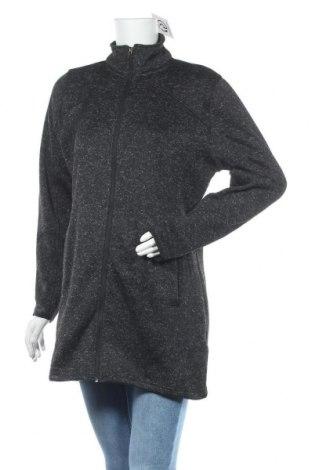 Дамско спортно горнище True Style, Размер L, Цвят Черен, Полиестер, Цена 16,91лв.