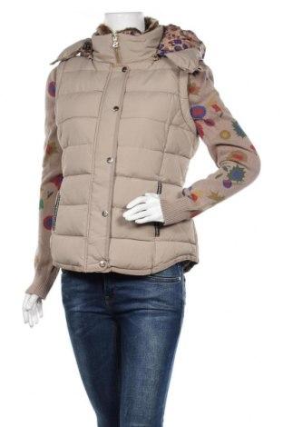 Γυναικείο μπουφάν Desigual, Μέγεθος L, Χρώμα  Μπέζ, 66% βαμβάκι, 34% πολυεστέρας, Τιμή 111,73€