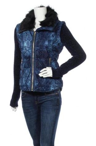 Γυναικείο μπουφάν Desigual, Μέγεθος M, Χρώμα Μπλέ, Πολυεστέρας, Τιμή 108,75€