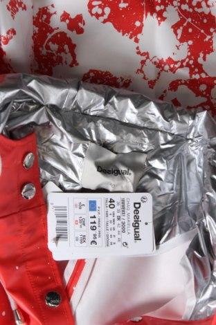Γυναικείο μπουφάν Desigual, Μέγεθος M, Χρώμα Πορτοκαλί, Πολυουρεθάνης, Τιμή 73,07€