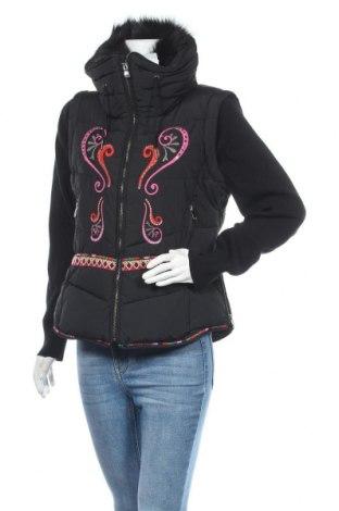 Γυναικείο μπουφάν Desigual, Μέγεθος L, Χρώμα Μαύρο, 62% βαμβάκι, 38% πολυεστέρας, Τιμή 120,03€