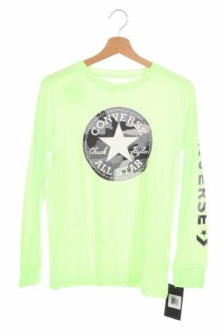 Παιδική μπλούζα Converse, Μέγεθος 11-12y/ 152-158 εκ., Χρώμα Πράσινο, 60% βαμβάκι, 40% πολυεστέρας, Τιμή 22,20€