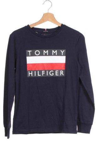 Παιδική μπλούζα Tommy Hilfiger, Μέγεθος 12-13y/ 158-164 εκ., Χρώμα Μπλέ, Βαμβάκι, Τιμή 28,22€